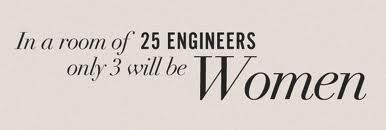 In my case: out of 30 engineers-to-be in class, only I was the girl (image taken from http://careergirlnetwork.com)